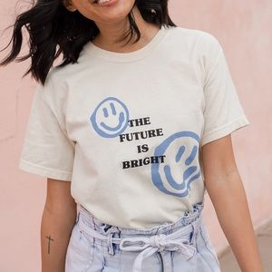 The future is bright graphic tshirt faith tee
